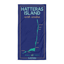 Hatteras Island Nc Beach Towel Surfbird Coastal Wear