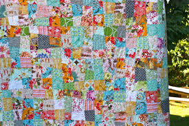 one shabby chick: A Quilt for Ada & I used Elizabeth's wonky nine patch tutorial. Adamdwight.com