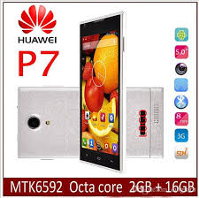 huawei phone 2016. best 2016 new hot sale huawei p7 phone mtk6592 octa core 2gb ram 16g rom wcdma 3g gps 5inch ips 13mp camera android 4.4 smart free shippin mobile