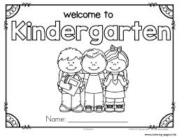 Back To School Preschool Theme Activities Kindergarten Coloring