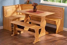 Dining nook furniture Free Standing Image Unavailable Amazoncom Amazoncom Linon Chelsea Nook Dining Table And Bench Set In Natural