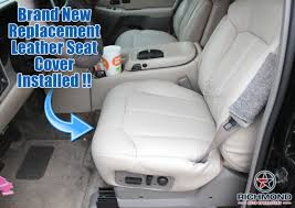 2000 2002 chevy tahoe suburban lt ls z71 leather seat cover driver bottom gray