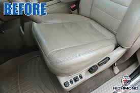 2002 2005 ford excursion limited leather seat cover driver bottom gray