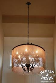 diy barrel shade for a large entry chandelier