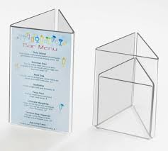 Restaurant Table Top Display Stands Acrylic Table Stands Menu Card Holders Plastic Table Top Displays 20