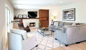 image result for how to place an area rug under a sectional sofa family room rugs