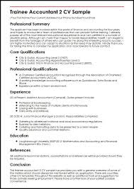 Accounting Resume Template Delectable Trainee Accountant 48 CV Sample MyperfectCV