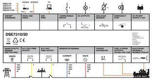 dse7310 manual & auto start control modules dsegenset deep dse8610 mkii at Dse8610 Wiring Diagram