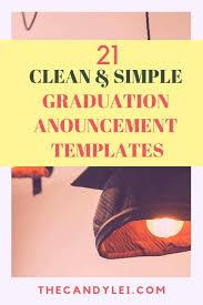 Elegant Graduation Announcements 21 Elegant And Simple Graduation Announcement Templates