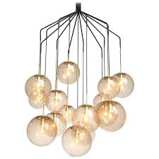 large sphere chandelier large spider chandelier with spheres in smoked glass and brass extra large sphere