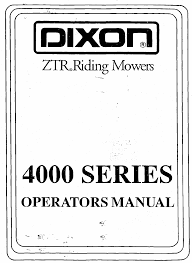 dixon ztr 4424 ztr riding mowers operator's manual Residential Electrical Wiring Diagrams at Ztr 4423 Wiring Diagram