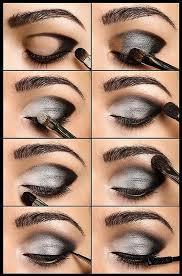 silvery grey smoky eye makeup tutorial