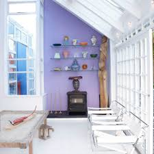 conservatory lighting ideas. Small Conservatory With Colour Blocked Wall Lighting Ideas