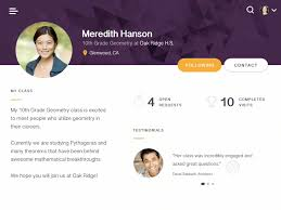 teacher profile ui by patrick kenney dribbble testimonial slider