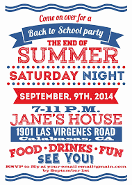 Back To School Invitation Template 40 Best Of Summer Party Invitation Template Graphics Gerald Neal