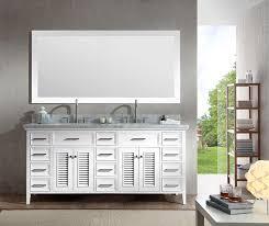 ariel kensington 73 double sink vanity set in white