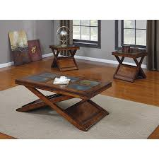 innovative 3 piece coffee table set dark oak finish 3 piece coffee table set 14320081