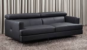 stylish black leather sofa 2 seater renzo 2 seater delux deco uk