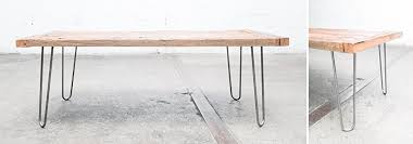 16 hairpin table legs raw steel from by design