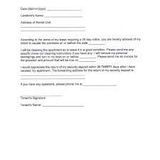 30 day notice to move out letter 30 day notice letter format choice image letter samples format