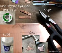 how to cut copper sheet for jewelry how to cut copper sheet with simple tools basket of blue metal