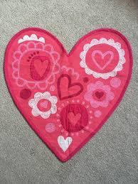 pink heart shaped rug for kids room
