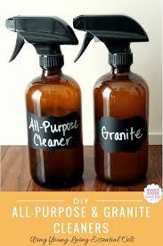 diy all purpose cleaner granite cleaner using essential oils
