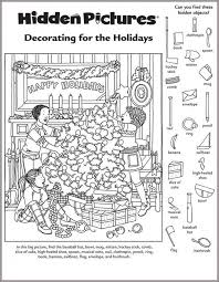 Hidden Picture Worksheet for Middle School | Kiddo Shelter