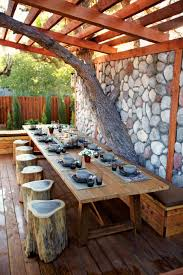 Outdoor Bedroom Decor Dining Room Exterior Classic Wooden Outdoor Dining Room Decor