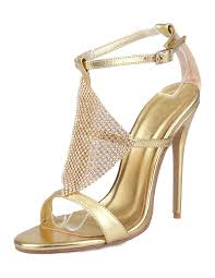 gold wedding shoes. gold wedding shoes sexy high heel sandals rhinestone ankle strap bridal shoes-no.1 y