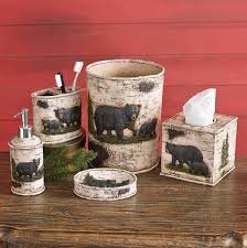 American Diner Kitchen Accessories Black Bear Decor Bear Gifts Black Forest Decor
