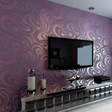 Purple Striped Wallpaper Designs Us 36 99 46 Off Modern Abstract Luxury 3d Wallpaper Roll Mural Flocking Curve Striped Non Woven Tv Sofa Background Wall Paper For Walls Purple In