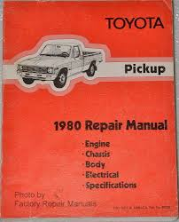 toyota service manuals original shop books factory repair manuals toyota pickup 1980 repair manual