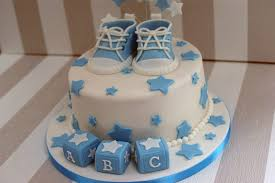 Boys Baby Shower Cake With Cupcakes 2 Bakealous
