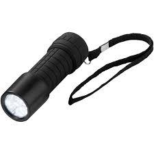 Omega Light Flashlight Shine On 9 Led Torch Light Solid Black Flashlights