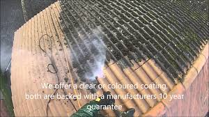 roof cleaning in the uk removing moss from concrete roof tiles by great outdoors and in ltd you