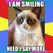 grumpy cat i am smiling. Plain Cat Grumpy Cat Smiling  I Am Smiling Need Say More And I Am