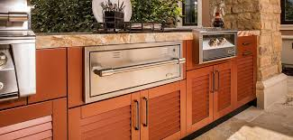 danver outdoor kitchens louver door with built in grill and built in side burner and outdoor