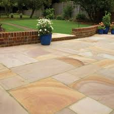 successfully laid patio