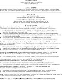 Accounting Internship Resume Samples Entry Level Administrative ...