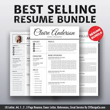 Ms Office Cv Templates 2019 Best Selling Ms Office Word Resume Cv Bundle The Claire