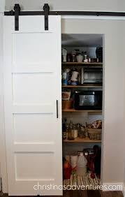 sliding barn pantry door open 1