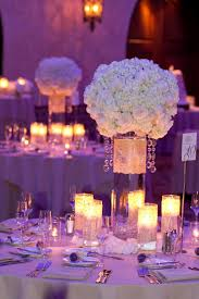 Stunning Image Of Wedding Table Decoration With White And Gold Table  Centerpiece : Attractive Image Of