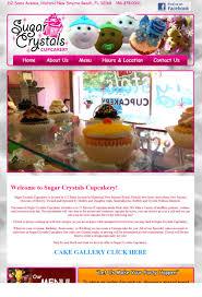 website design daytona beach best web design daytona sugar crystals cupcakery website design