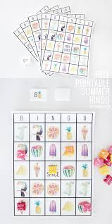 fun free printable summer bingo sheets perfect activity to keep those little ones happy and