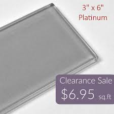 glass subway tile 3 6 elegant 3 x 6 platinum clearance low inside 14