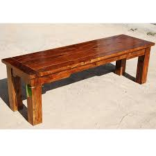 Traditional Barn Wood Dining Room Table With Bench  Dining Room Wood Bench Dining