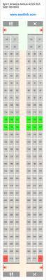 Spirit Airways Airbus A320 32a 320 Seat Map United