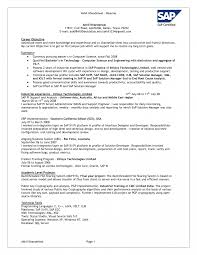 Resume For On Campus Jobs Ideas Of Resume Cv Cover Letter Sap Fico Consultant About Techno 56