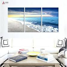 triptych wall art canvas prints home decoration sunset and waves beach modular pictures posters abstract